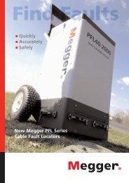 New Megger PFL Series Cable Fault Locators - States