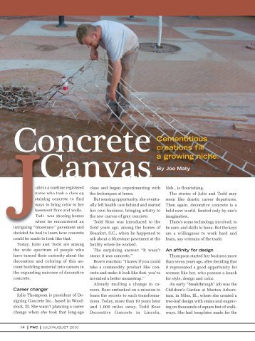 Cementitious creations fill a growing niche. - PaintSquare