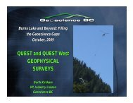 QUEST and QUEST West GEOPHYSICAL ... - Geoscience BC