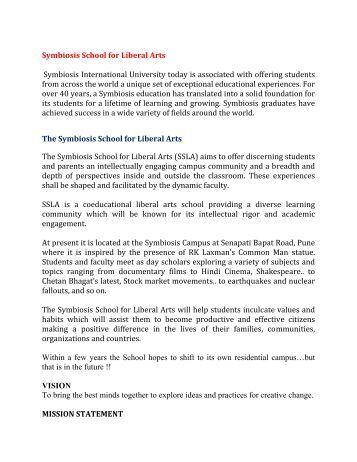 Symbiosis School for Liberal Arts Symbiosis International University ...