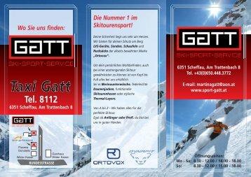 Tel. 8112 6351 Scheffau, Am Trattenbach 8 - Sport Gatt