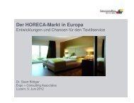 Der HORECA-Markt in Europa - EXPO + CONSULTING