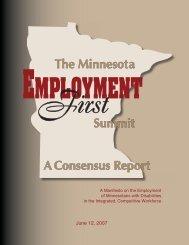 Employment First - Minnesota APSE
