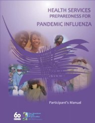 Health Services Preparedness for Pandemic Influenza. Participant's ...