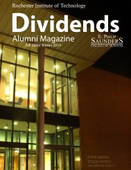 Dividends - College of Business - Rochester Institute of Technology
