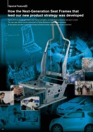 Special Feature(PDF:2882KB) - Toyota Boshoku Corporation