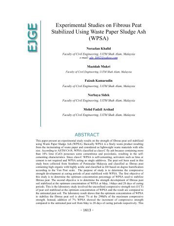 Get the entire paper (pdf) - Ejge.com