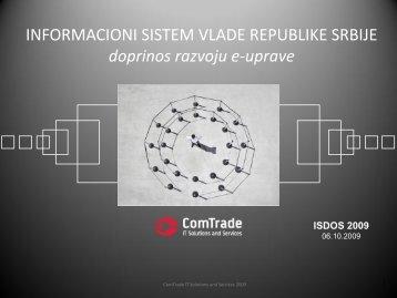 INFORMACIONI SISTEM VLADE REPUBLIKE SRBIJE doprinos ...