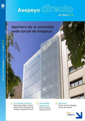 Apertura de la renovada sede social de Asepeyo