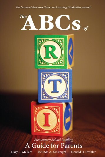 ABCs of RTI - National Research Center on Learning Disabilities