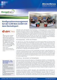 Jetzt die E.ON Netz GmbH Case Study als PDF laden - ManageEngine