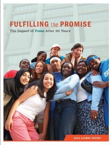 The 2012 Posse Alumni Report - The Posse Foundation