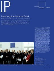 Innovationspreis Architektur und Technik