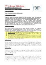 Durchführungsbestimmungen 11-12 - der NVV-Region Oldenburg