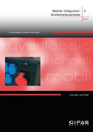Mobile Sicherheitsverteiler - GIFAS W.J. Gröninger ELECTRIC GmbH