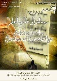 Advice for the Seeker of Knowledge.pdf - Kalamullah.Com