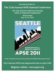 The 22nd Annual APSE National Conference Register online: www ...
