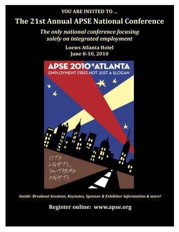 The 21st Annual APSE National Conference