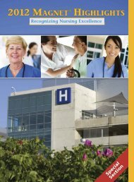 2012 MAGNET® HIGHLIGHTS - American Nurse Today