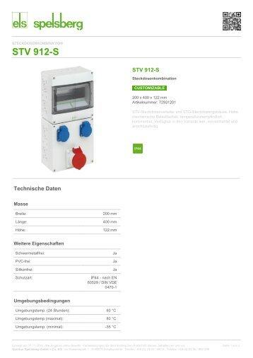 STV 912-S - Steckdosenkombination (72931201) - Spelsberg