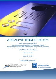 AIRG/AIC WINTER MEETING 2011 - The Australian Institute for ...