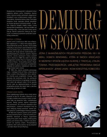 DEMIURG W SPÓDNICY - Wittchen