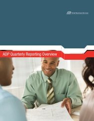 ADP Quarterly Reporting Overview