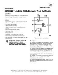 SKY65534-11 2.4 GHz WLAN/Bluetooth Front-End Module Product ...
