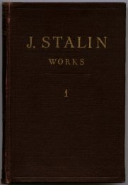 J. Stalin — Works, Vol. 1 - From Marx to Mao