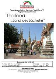 thailand - Auslandsgesellschaft NRW eV