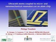 and nanomechanical resonators on an atom chip