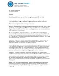 For Immediate Release December 6, 2010 Contacts - New Energy ...