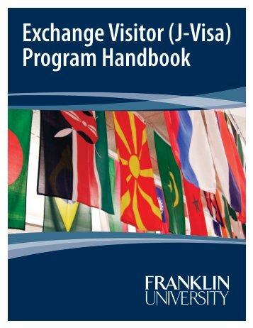Franklin University: Handbook for Exchange Visitor- J Program