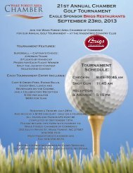 21st Annual Chamber Golf Tournament September 23rd, 2013