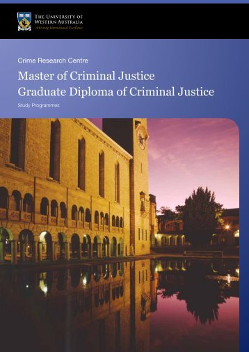 Master of Criminal Justice Graduate Diploma of ... - Faculty of Law