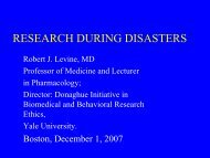 Research During Disasters - Department of Energy Human Subjects ...