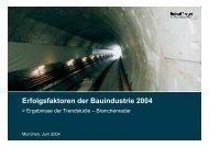 Erfolgsfaktoren der Bauindustrie 2004 - Roland Berger