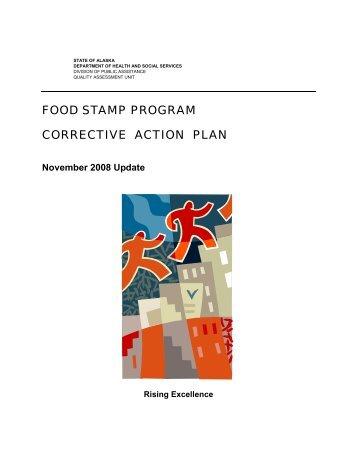 November 2008 Food Stamp Correction Action Plan - DPAweb ...