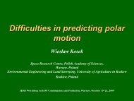 Difficulties in predicting polar motion