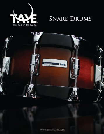 Snare Drum Brochure - Taye Drums