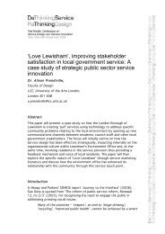 'Love Lewisham', improving stakeholder satisfaction in local ...