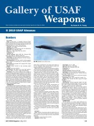 Gallery of USAF Weapons - Air Force Magazine