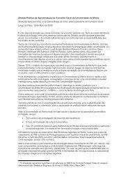 Sessão Pública de Apresentação do Conselho Geral da ...
