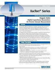 XacTorr Digital Vacuum Capacitance Manometers - Brooks Instrument