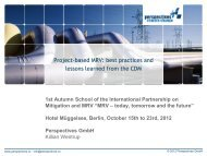 CDM projects - International Partnership on Mitigation and MRV