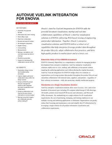AutoVue VueLink Integration for ENOVIA - Achelon.eu