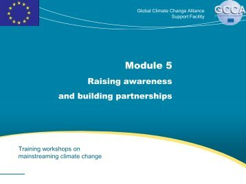 Adaptation - Global Climate Change Alliance