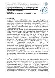 Leitlinie: Hygienebeauftragte(r) in Pflegeeinrichtungen - Deutsche ...