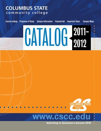 2011-2012 Catalog - Columbus State Community College