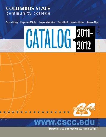 2011-2012 Catalog - Columbus State Community College